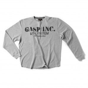 GASP Thermal gym sweater greymelange L