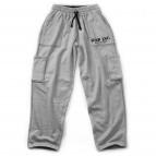 Fleece cargo pant greymelange M