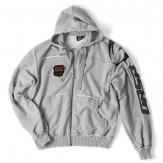 GASP Gym hood jacket greymelange